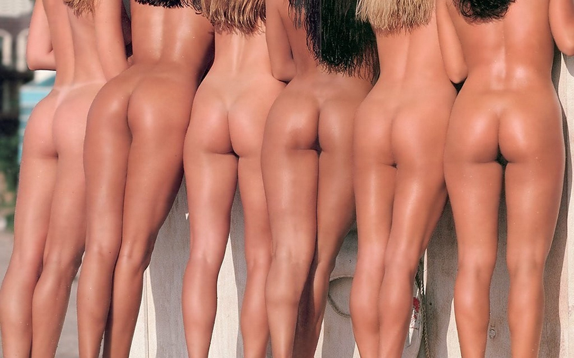 Nude Group Butts Babes