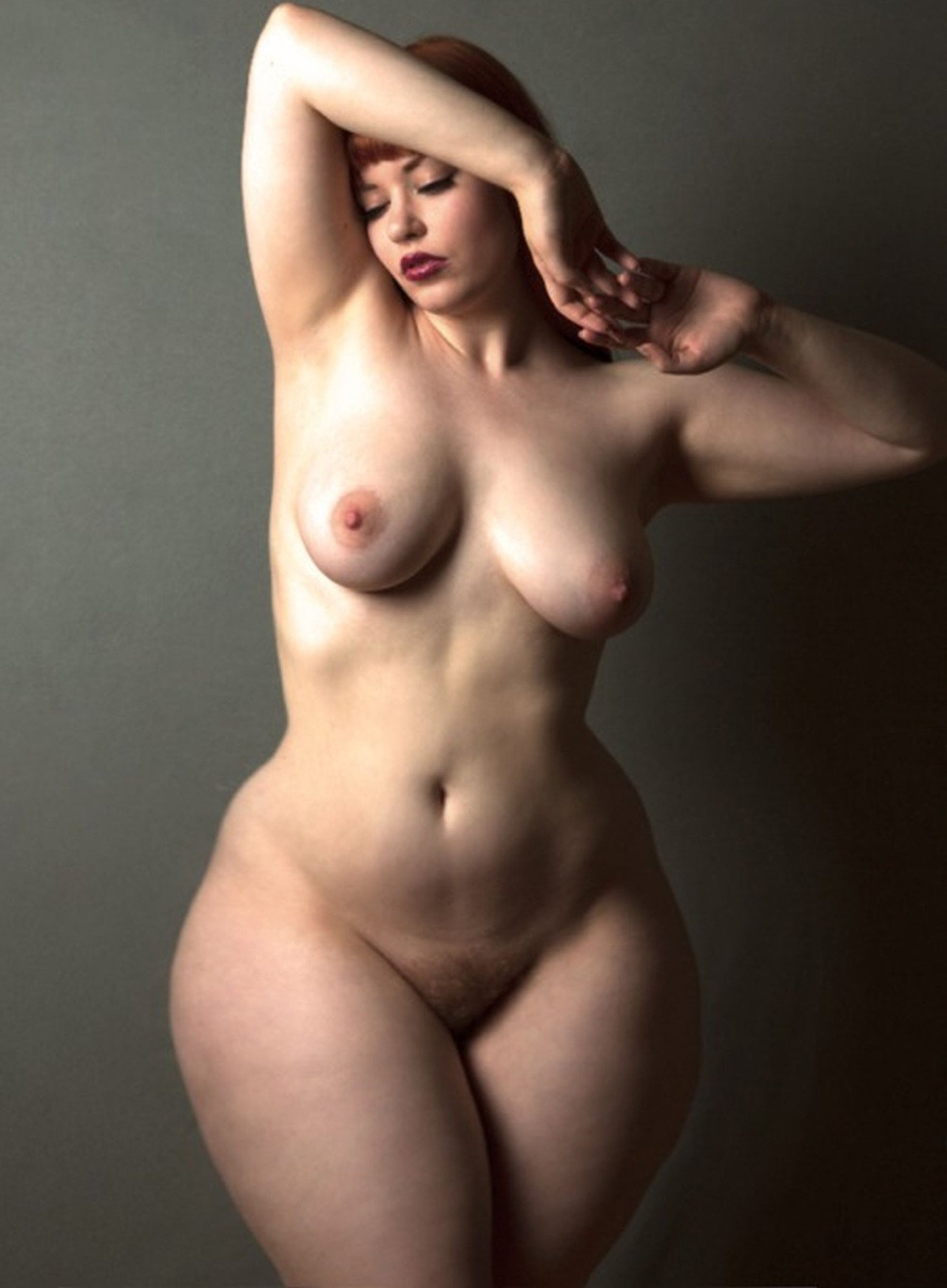 Big Beautiful Woman With Naked Boobs And Red Hair