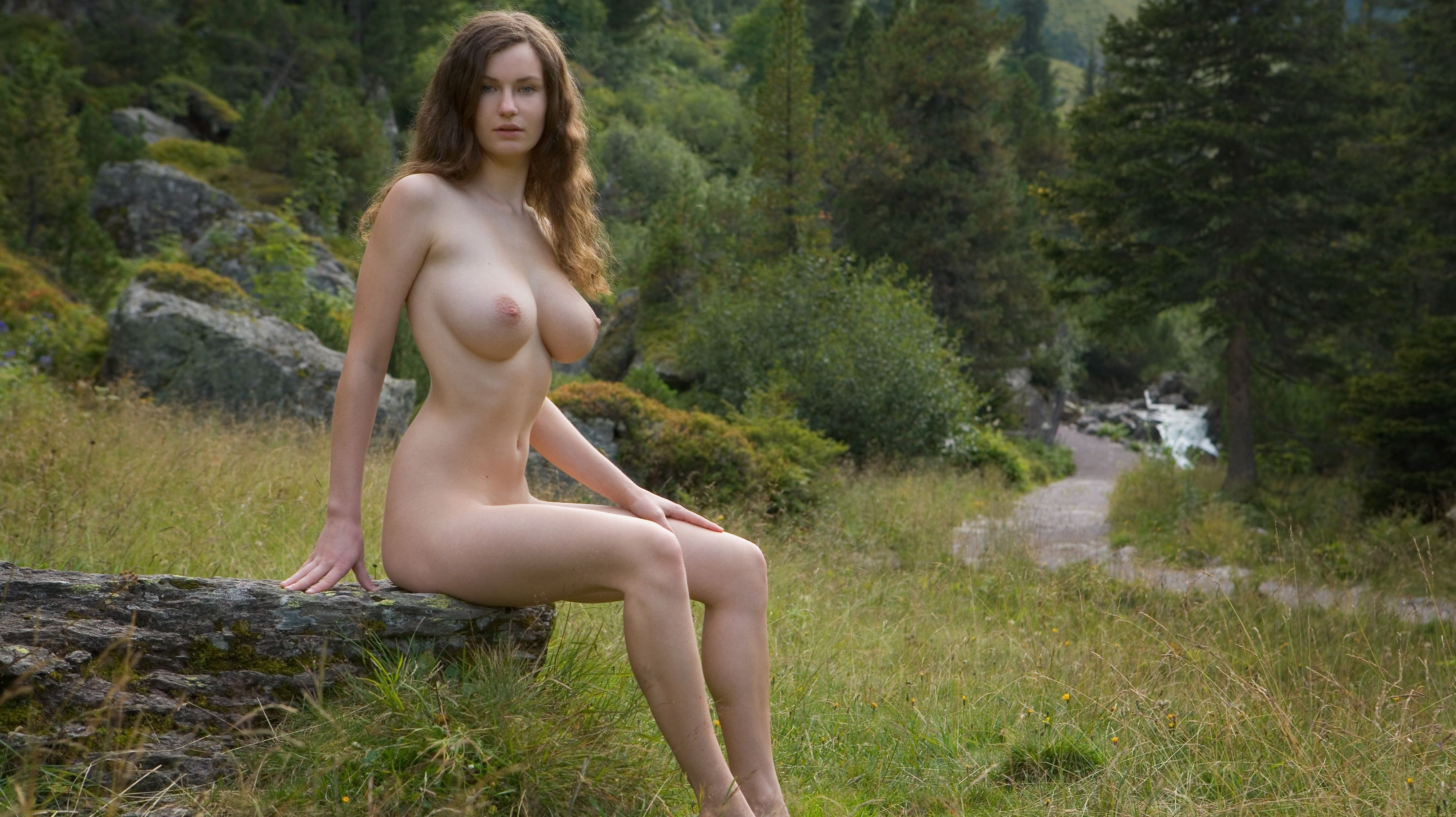 Busty Teens Katya Nude In The Forest