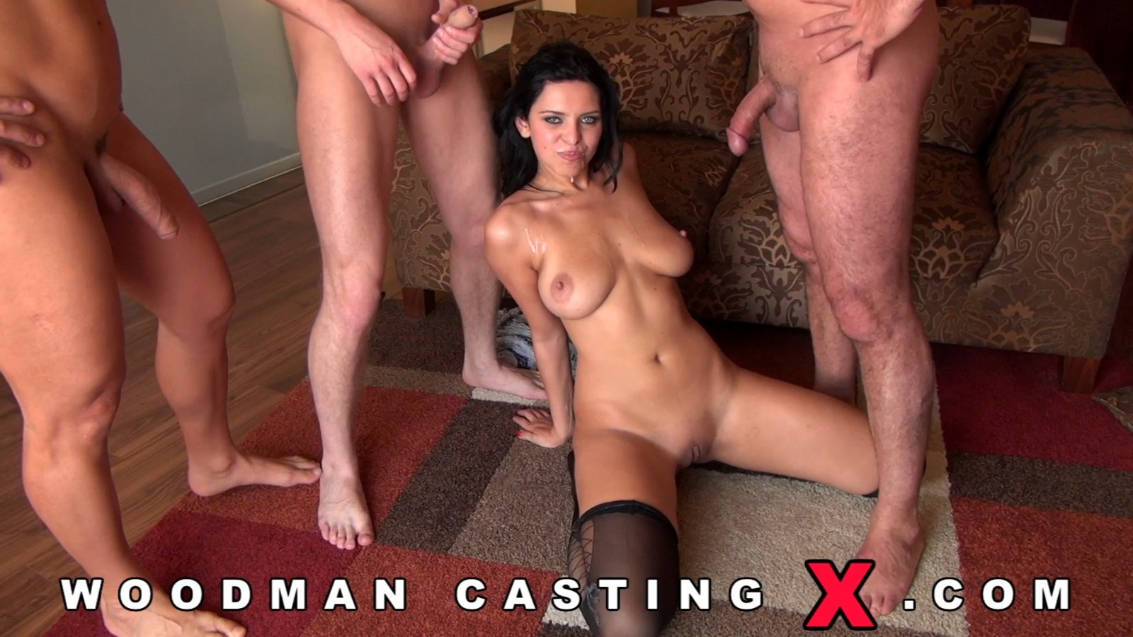 Threeway Casting With Two Pairs Of Amazing Tits